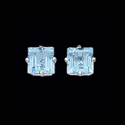Princess Blue Topaz Earrings