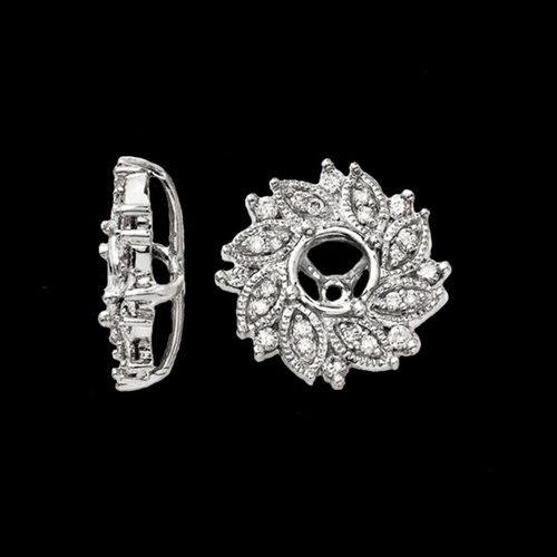 Diamond Flower Earring Jackets