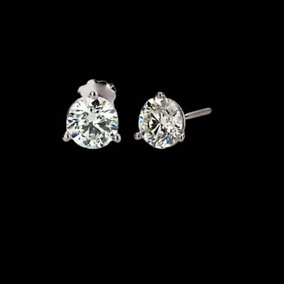 Large Platinum Diamond Studs