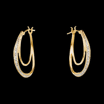 Diamond Double Hoop Earrings