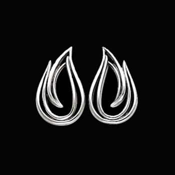 Fancy Platinum Wire Earrings
