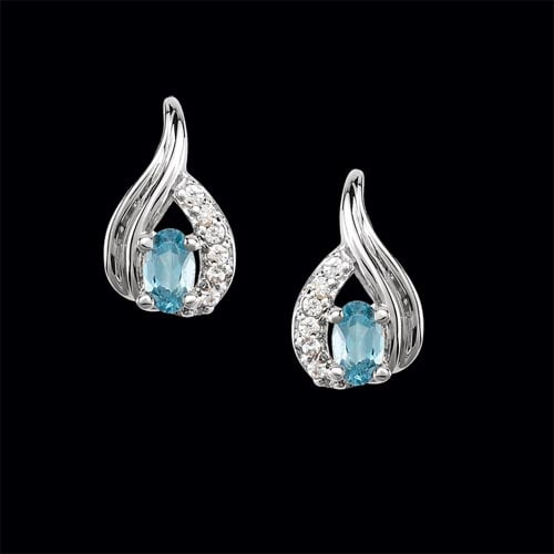 Platinum Modern Pear & Diamond Earrings