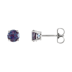 Gemstone Earrings Tanzanite Stud Earrings