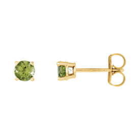 Gemstone Earrings Peridot Stud Earrings