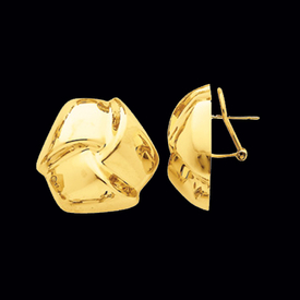 Gold Earrings Puffed Knot Gold Earring