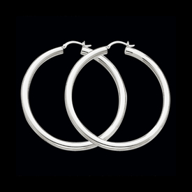 Classic 4mm Gold Tube Hoops