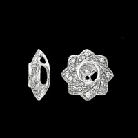 Earring Jackets Diamond Floral Star Earring Jackets