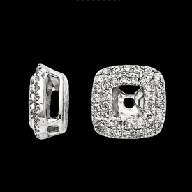 Princess Double Halo Diamond Earring Jackets