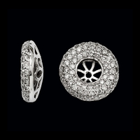 Pave Diamond Earring Jackets