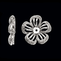 Flower Design Diamond Earring Jackets