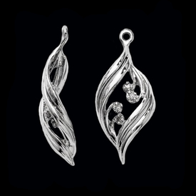 Earring Jackets Fancy White Gold Diamond Earring Jackets