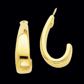 "Gold ""J"" Hoop Earring Jackets"