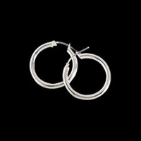 3mm Sterling Silver Hoops