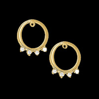 Diamond Accent Circle Earring Jackets