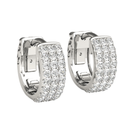Diamond Earrings Diamond Huggie Hoop Earrings