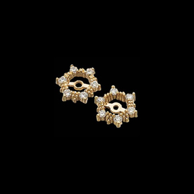 Earring Jackets 14kt Gold Diamond Earring Jackets