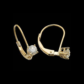 Vibrant Diamond Leverback Earrings