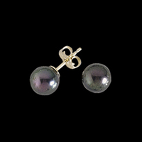 Pearl Earrings Black Pearl Stud Earrings