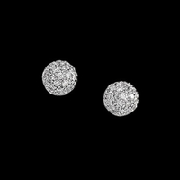 14k Gold Diamond Ball Earrings
