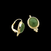 Jade Lever back earrings