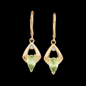 Peridot Diamond Drop Earrings