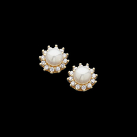 Pearl Earrings Diamond Pearl Earrings