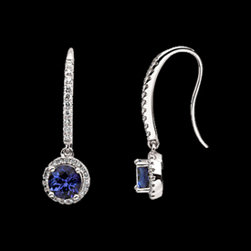 Gemstone Earrings Gorgeous Tanzanite Diamond Earrings