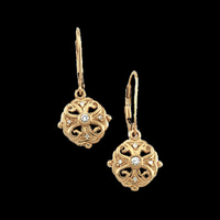 Fancy Leverback Diamond Earrings