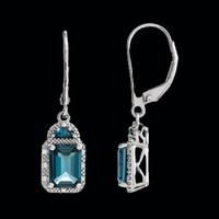 Gemstone Earrings London Blue Topaz Dangles