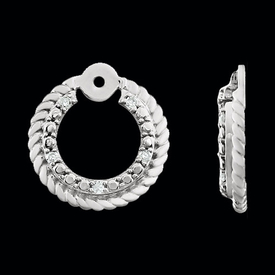 Rope Circle Diamond Earring Jackets