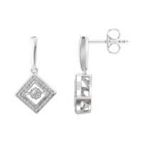 Diamond Earrings White Gold Diamond Geometric Earrings
