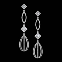 Diamond Chandelier Dangle Earrings