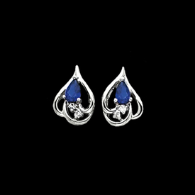 Sapphire Platinum Earrings