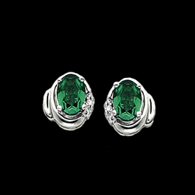 Platinum Earrings Platinum Emerald Earrings