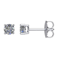 Platinum Diamond Basket Style Studs