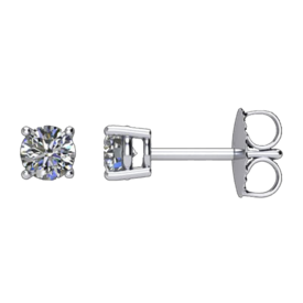 Diamond Earrings Diamond Basket Style Studs