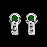 Brilliant Emerald Earrings