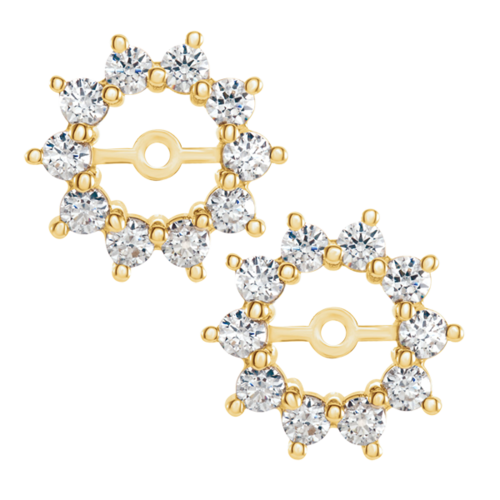 White Sapphire Earring Jackets