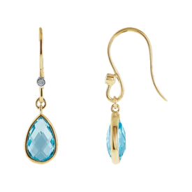 Gemstone Earrings Fun Swiss Blue Topaz Earrings