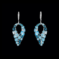 Multiple Topaz Leverback Earrings