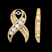 Diamond Ribbon Earring Jackets
