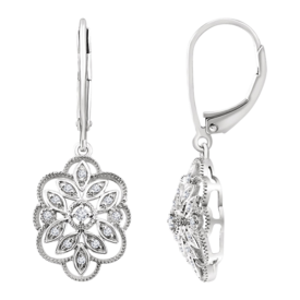 Diamond Earrings Diamond Granulated Filigree Earrings