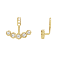 Earring Jackets Diamond Curved Front-Back Earring Jackets