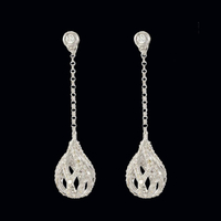 Stunning Diamond Dangle Earrings