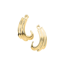 Earring Jackets Gold Curly Earring Jackets