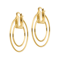 Hoop Earrings Polished & Textured Fancy Hoop Earrings