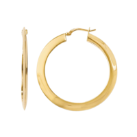 Hoop Earrings Polished Gold Hoop Earrings