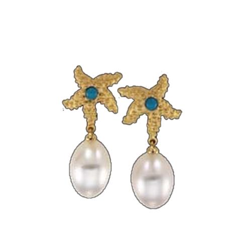 South Sea Pearl & Gold Earrings