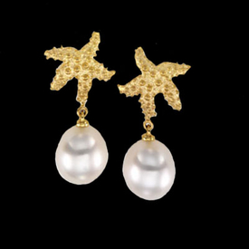 Starfish South Sea Pearl Earrings