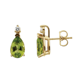 Peridot Pear Stud Earrings